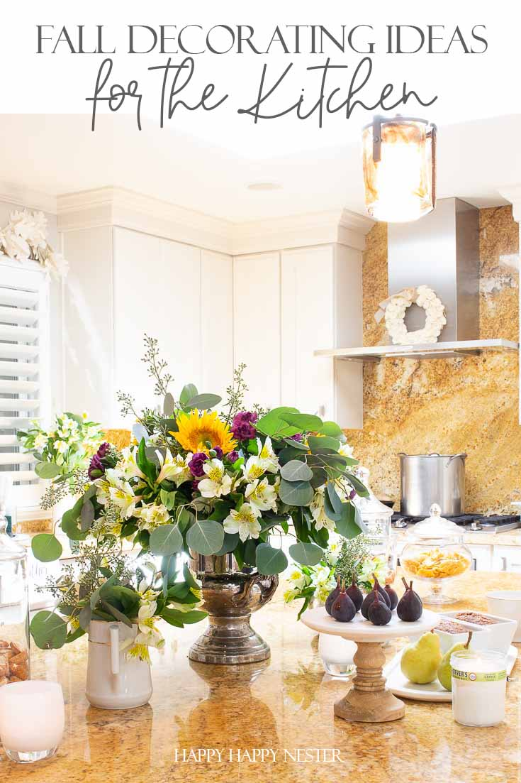 Here are some easy Fall Decorating Ideas for the Kitchen. This post shares six things you can easily change in your kitchen to get it ready for Autumn. #fallkitchen #falldecorating #fallinspiration #autumnkitchens