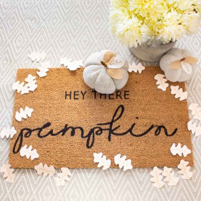 How to Stencil a Cute Doormat