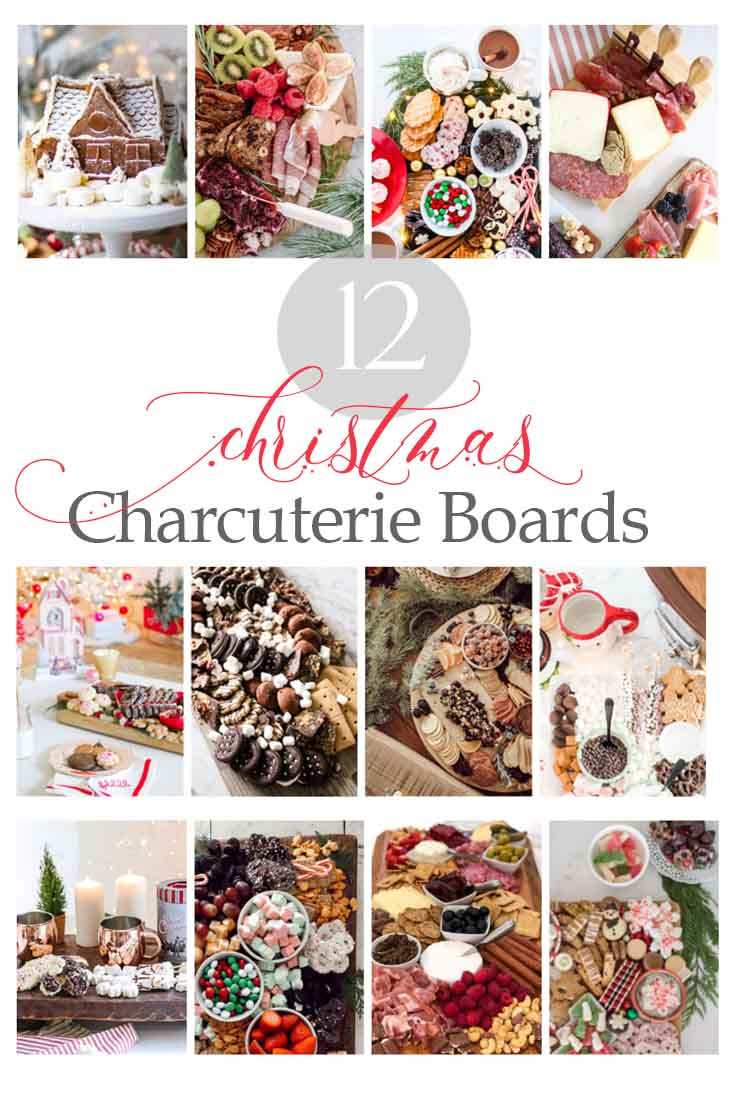 Create this fun festive Christmas Dessert Charcuterie Board for the holidays. This board full of yummy treats includes my favorite cookies as well as a cute gingerbread cake. #charcuterieboard #charcuterie #holidaydesserts #christmascookies