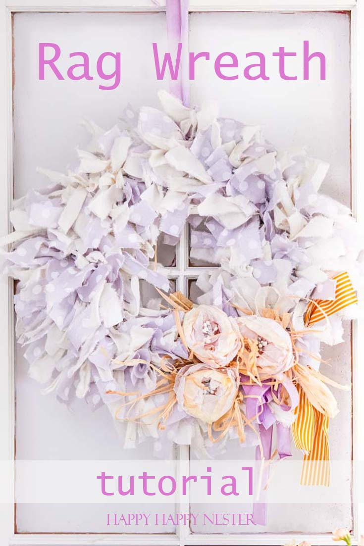 Fabric rag wreath diy