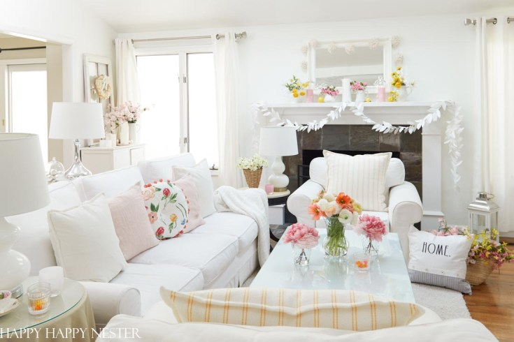 Spring Home Tour with Flowers