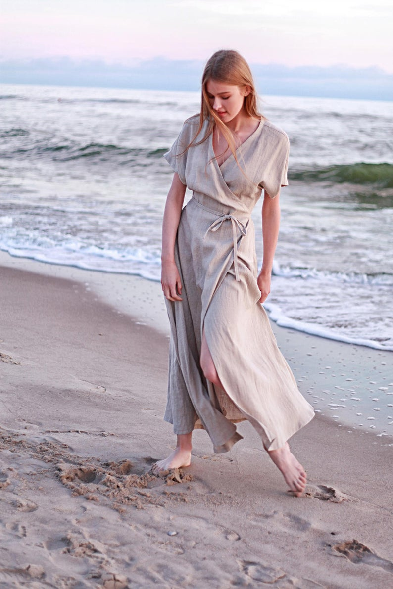 Beautiful natural linen dress