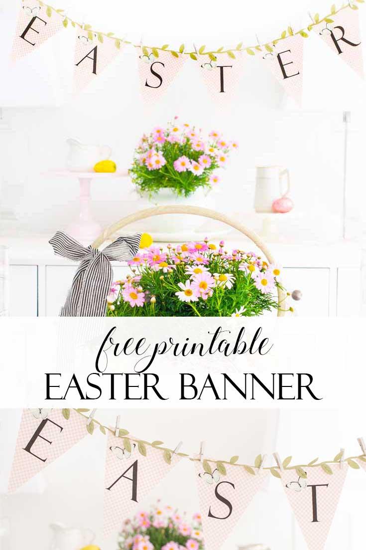 Free Printable Easter Banner pin