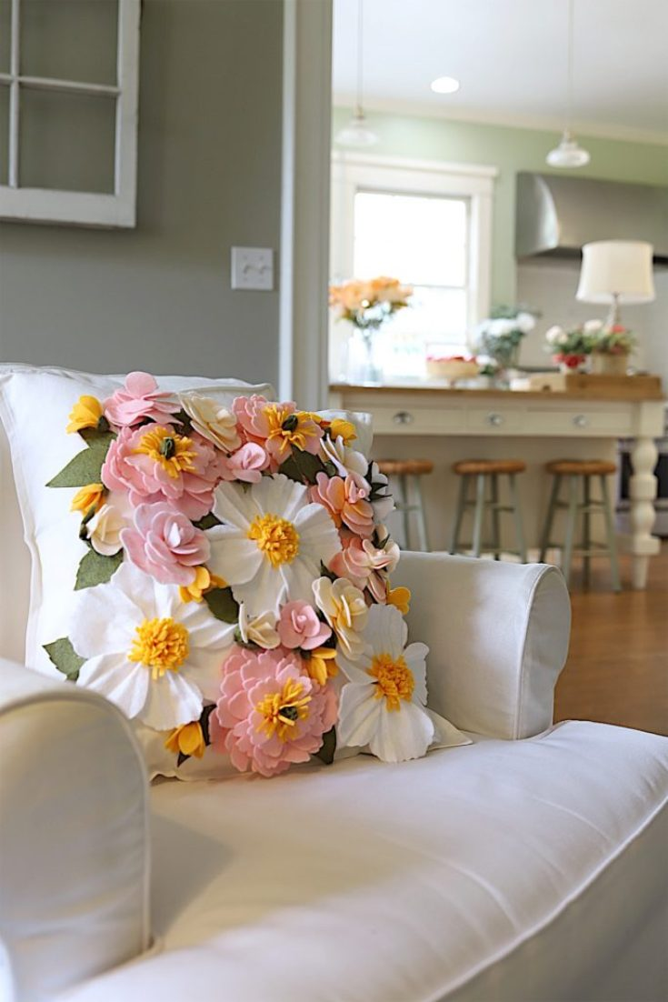 beautiful flower pillow