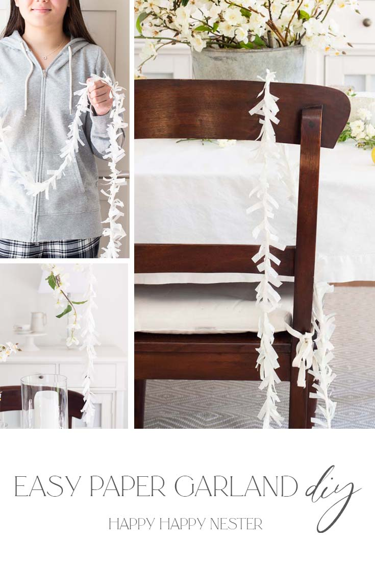 easy paper garland diy pin
