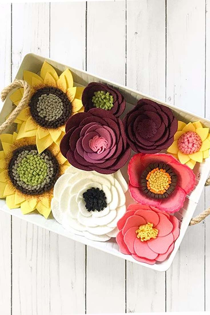 Beautiful Felt Flowers