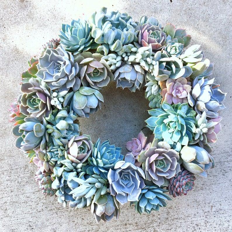 succulent decor wreaths
