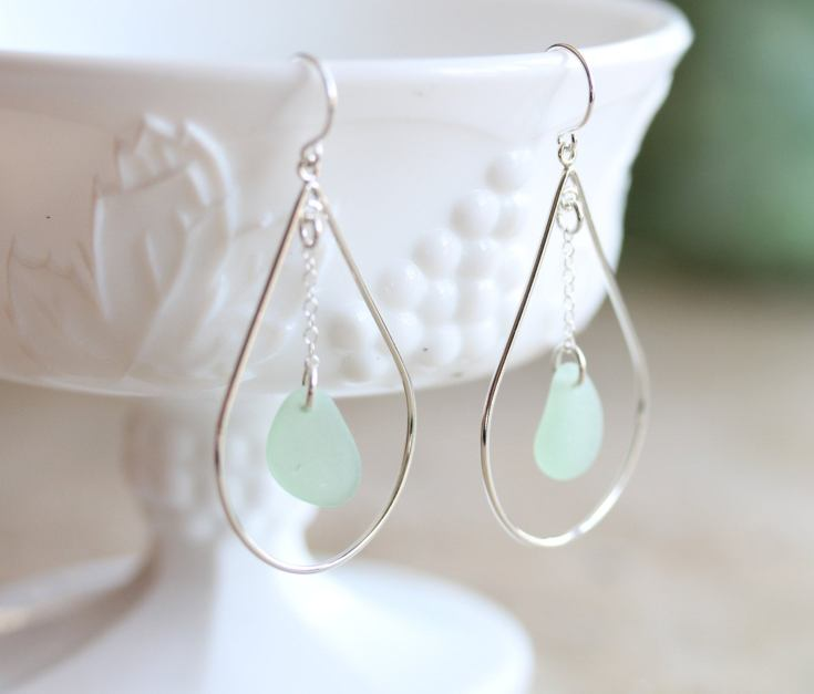 beautiful glass earrings
