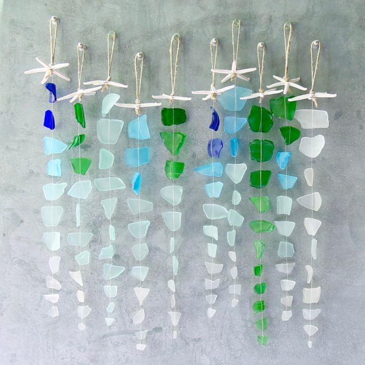 Sea glass beach decor