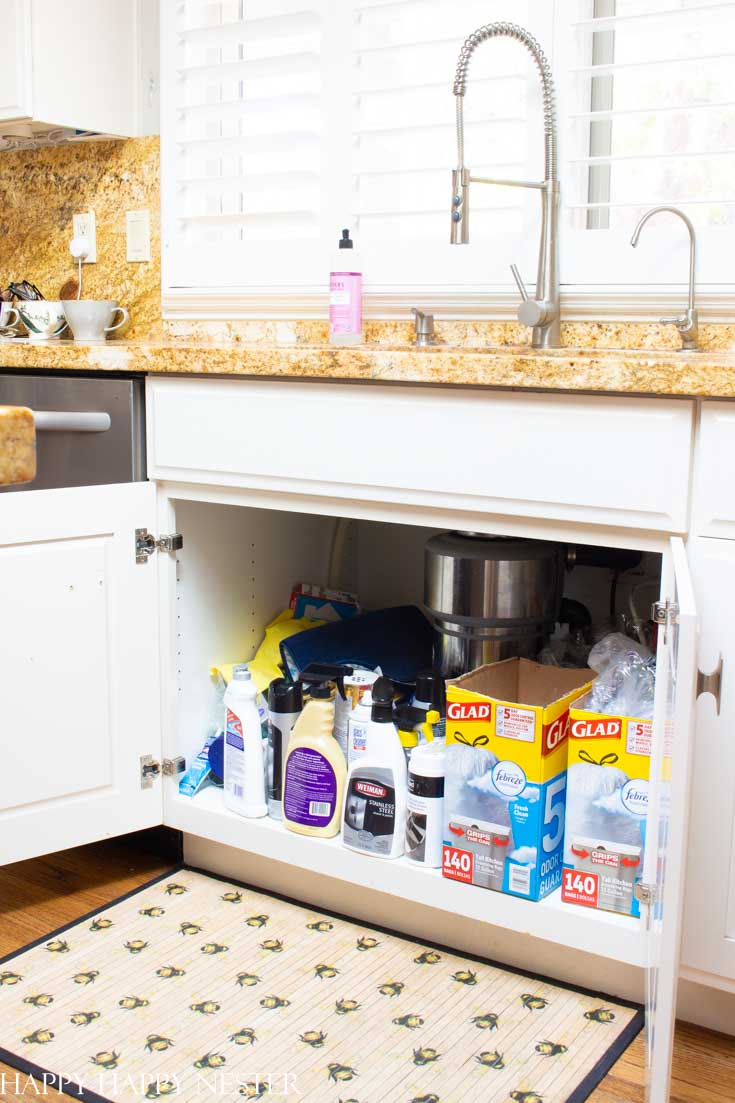 Under The Kitchen Sink Organization Ideas Happy Happy Nester