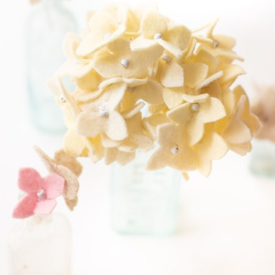 DIY Felt Hydrangea Flower Tutorial