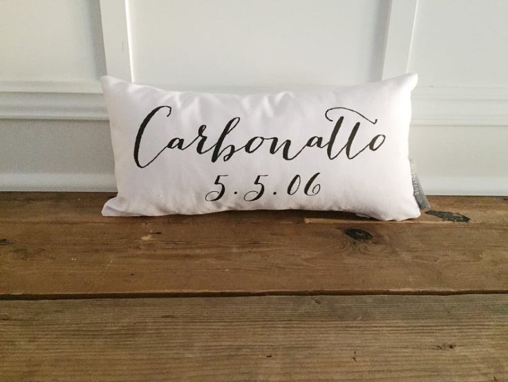 personalized date pillows