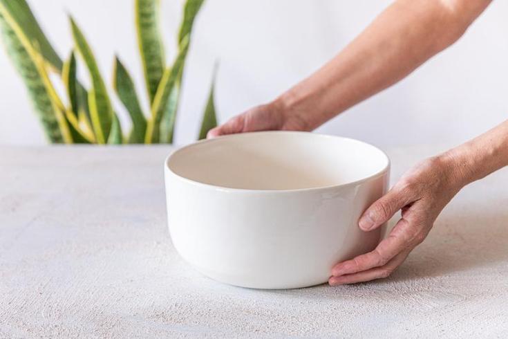 large white mixing bowl