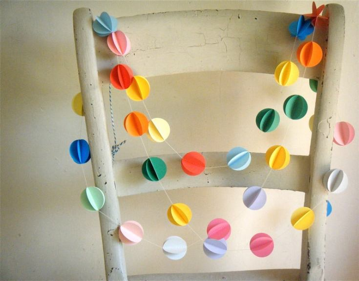 pretty paper garlands