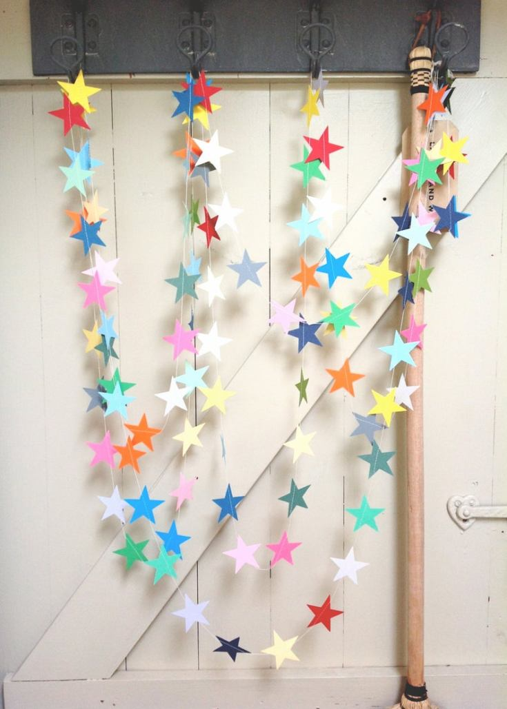 pretty paper garlands on etsy