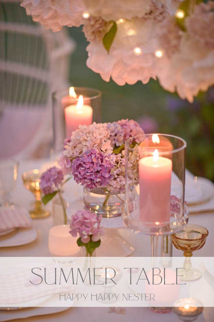 romantic outdoor summer table pin