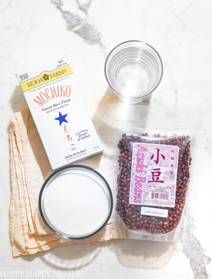 mochi recipe with azuki beans.