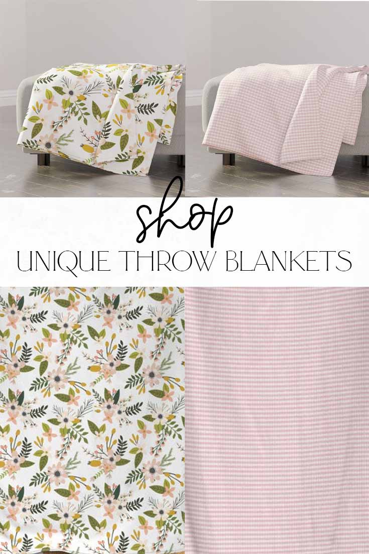 where to find unique throw blankets online