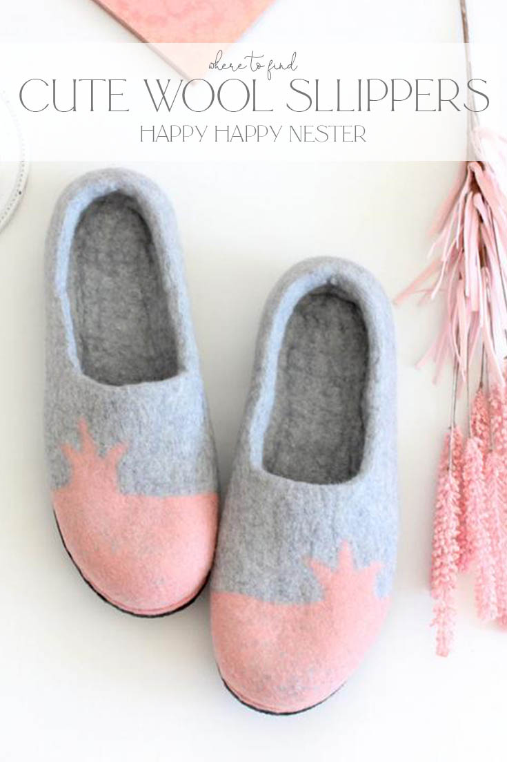 where to find cute wool slippers pin
