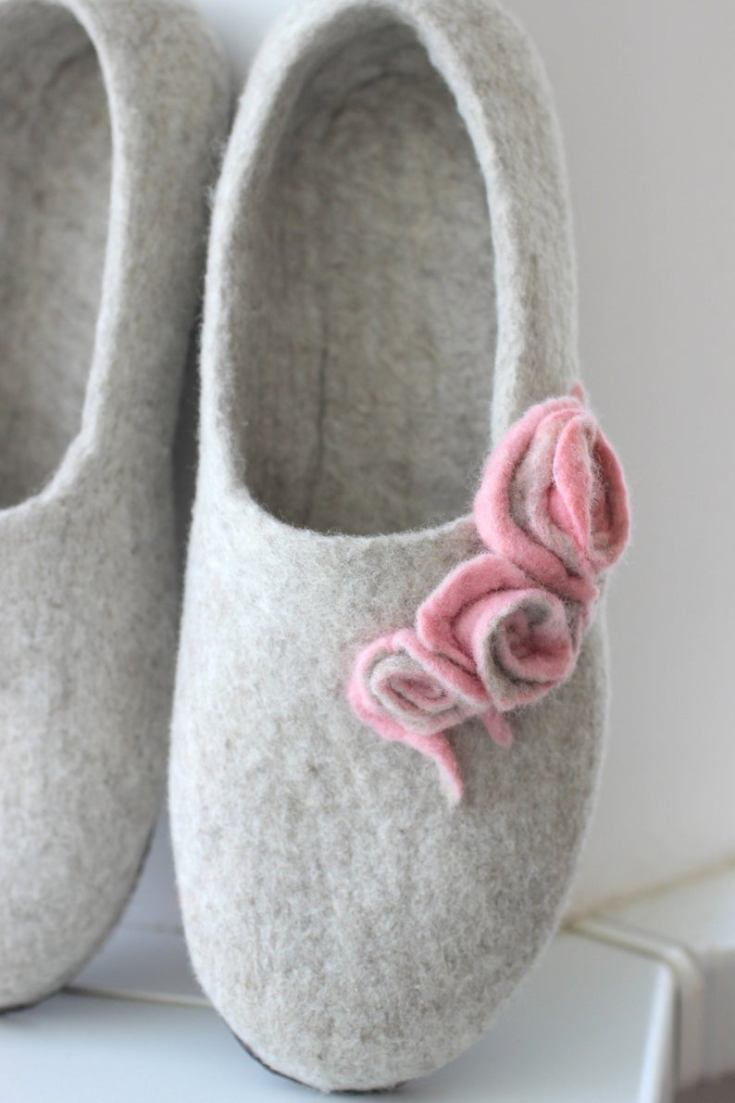 cute wool slippers