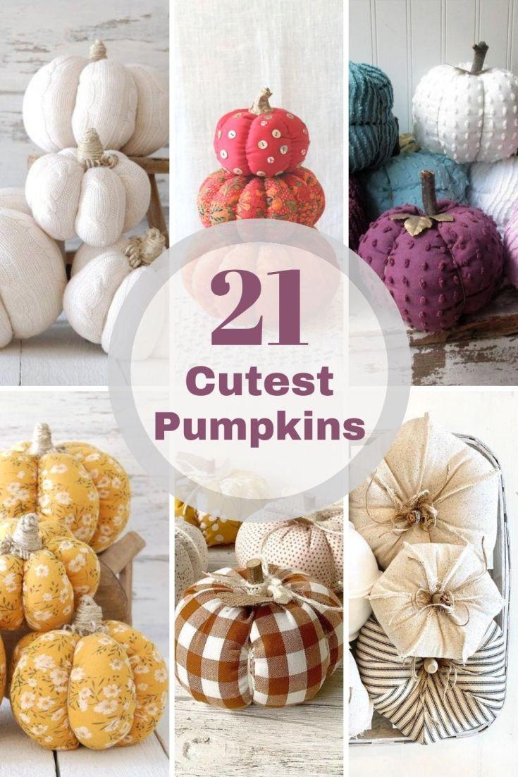 cutest fabric pumpkins roundup pin