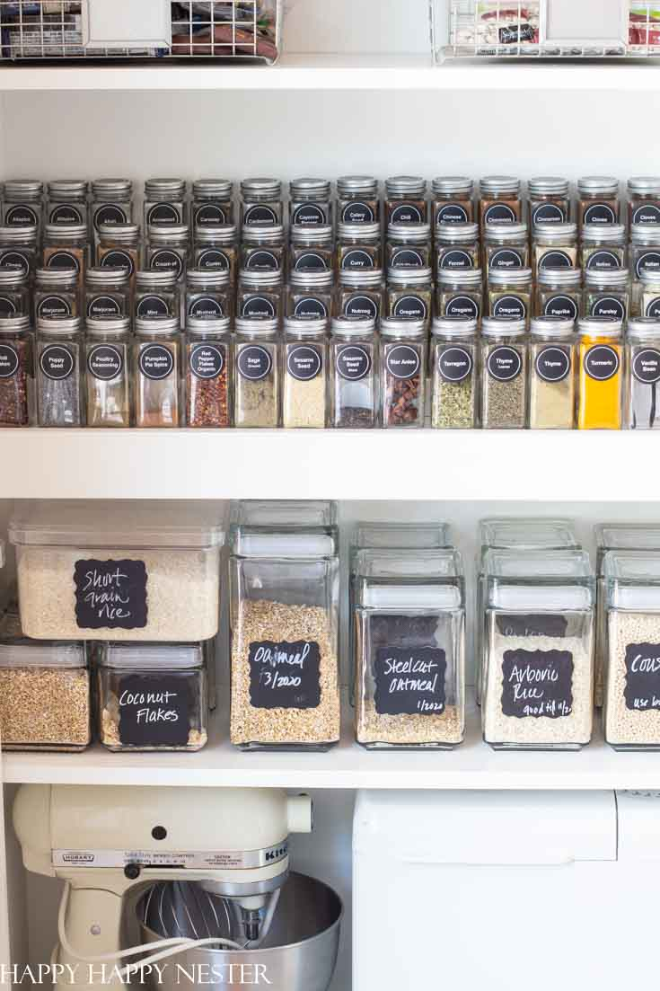 spice storage jars