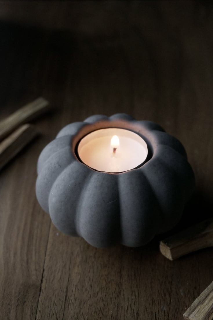 beautiful concrete candle holder