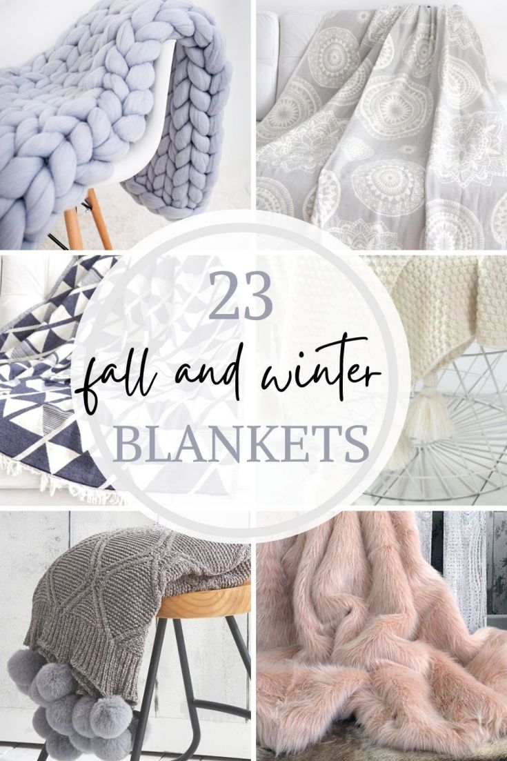 cozy beautiful blankets for fall and winter pin