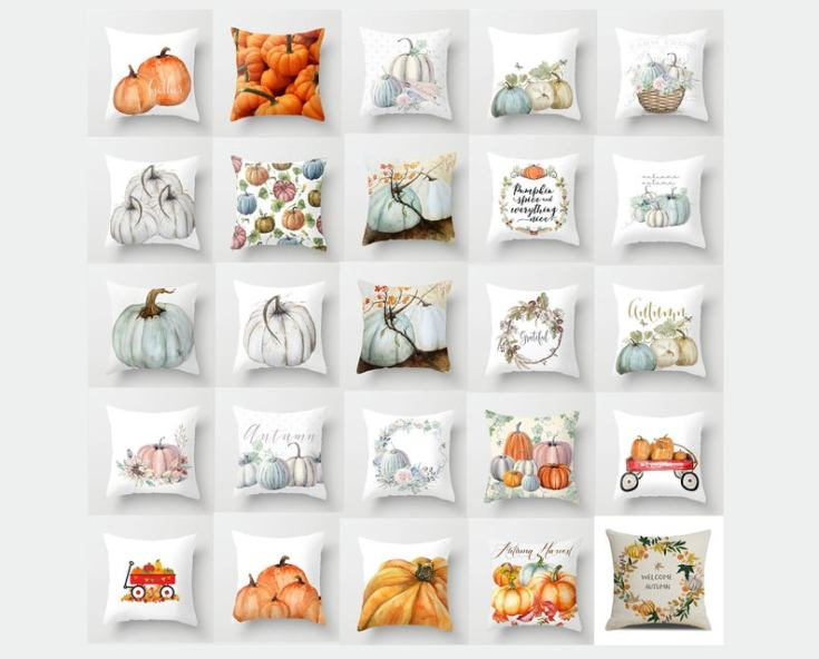 fall collection of pillows