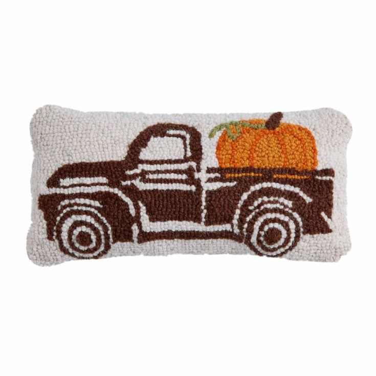 trucks with pumpkin pillows