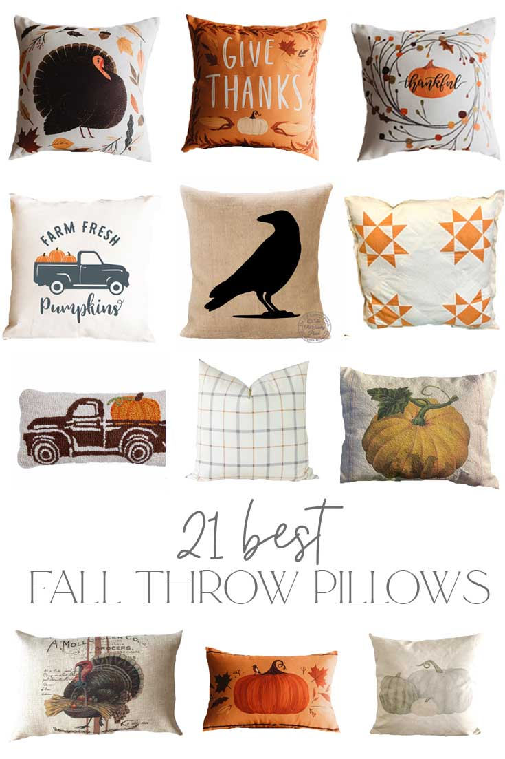 Favorite fall throw pillows pin