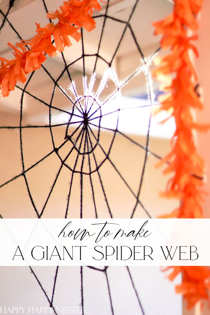 how to make a giant spider web pin