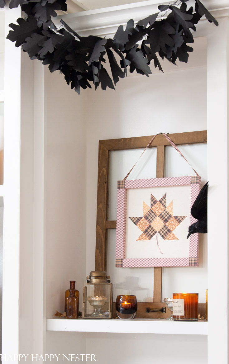 how to make a paper quilt leaf