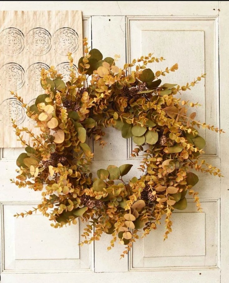 eucalyptus fall wreath on etsy