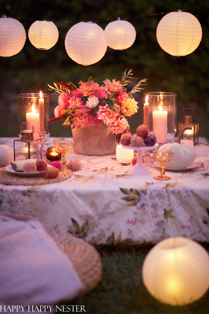 a romantic outdoor table for fall