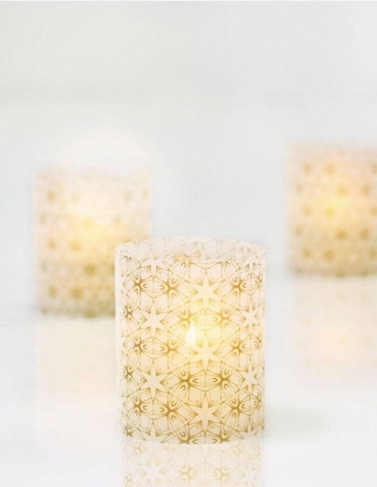 vellum lantern votives