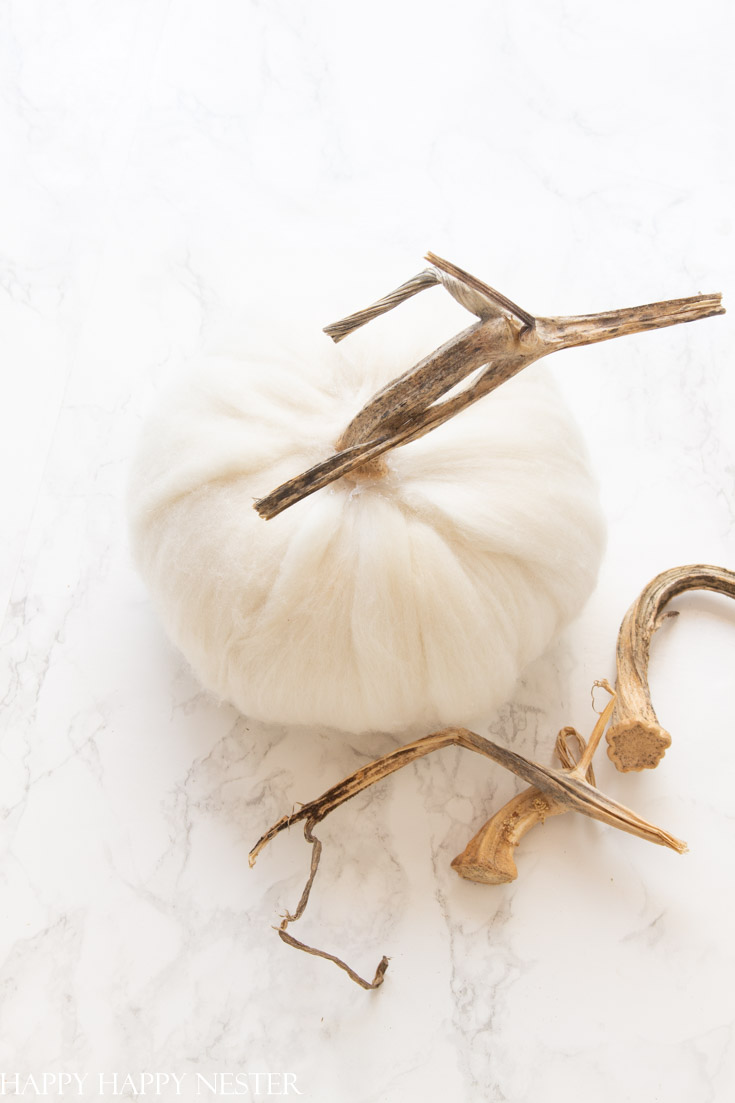 Cozy fall wool pumpkins