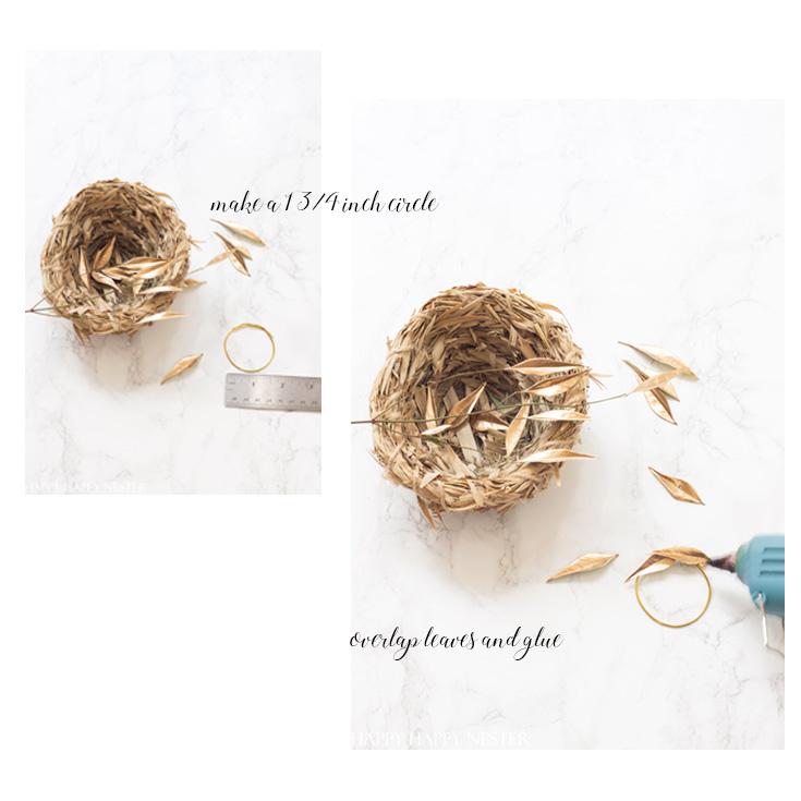 step by step mini-wreath tutorial