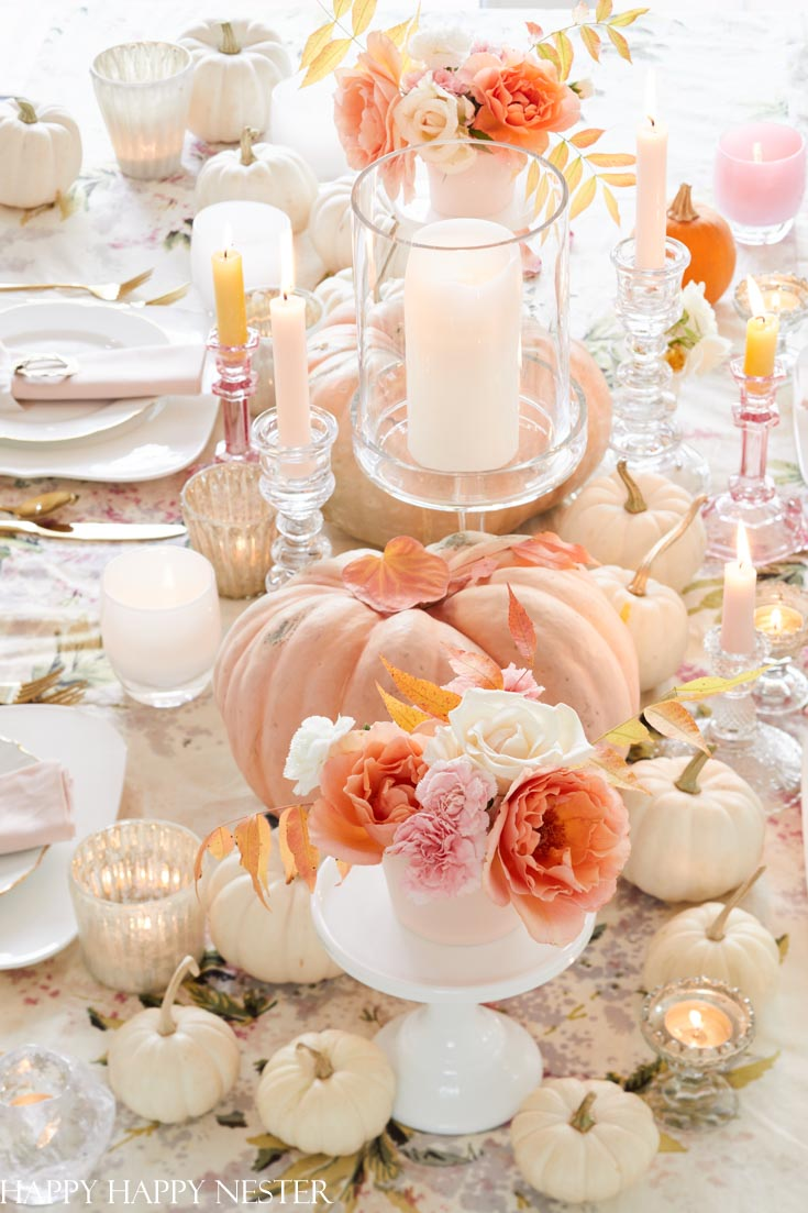 pink and orange table decor