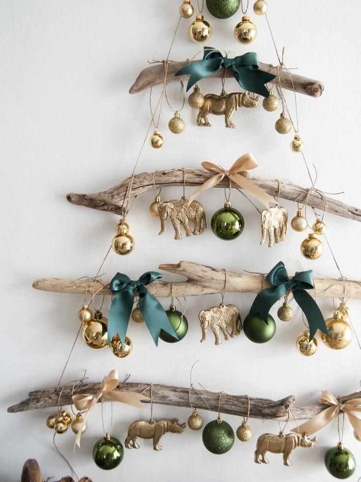 driftwood ornament tree