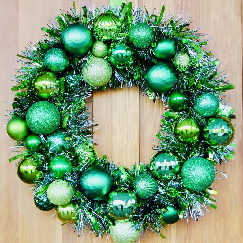green ornament wreath