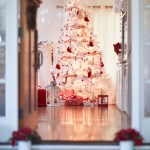 Red And White Christmas Tree Happy Happy Nester