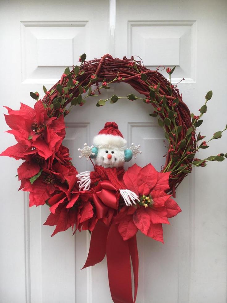 cute snowman christmas wreath