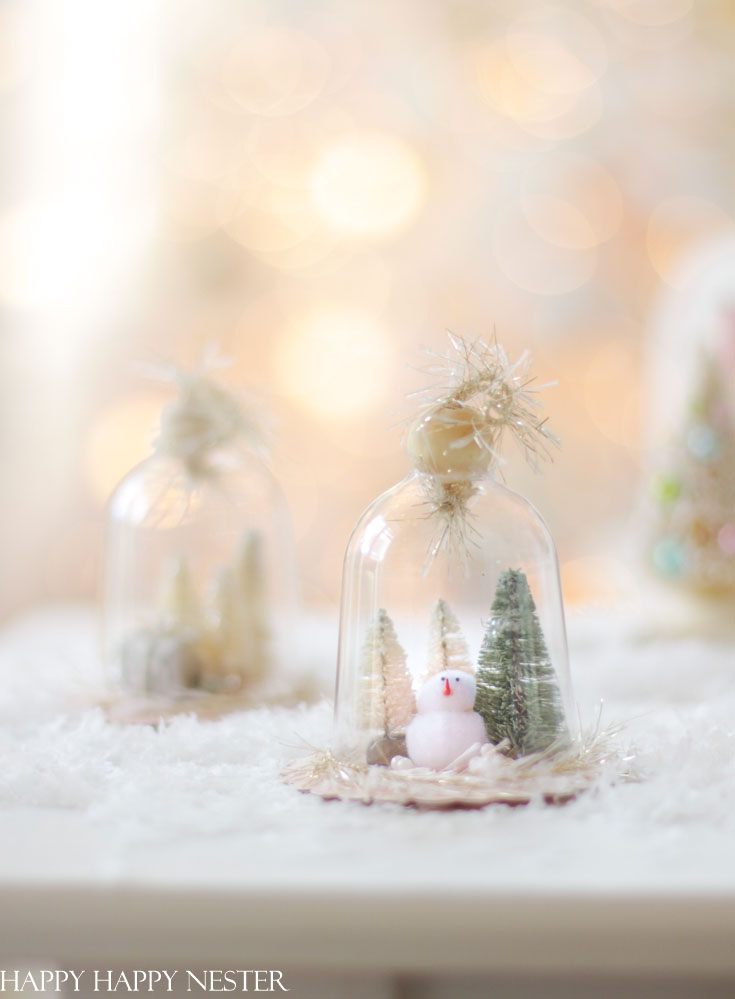 make your own ornament with a cloche