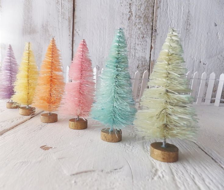 pastel sisal trees