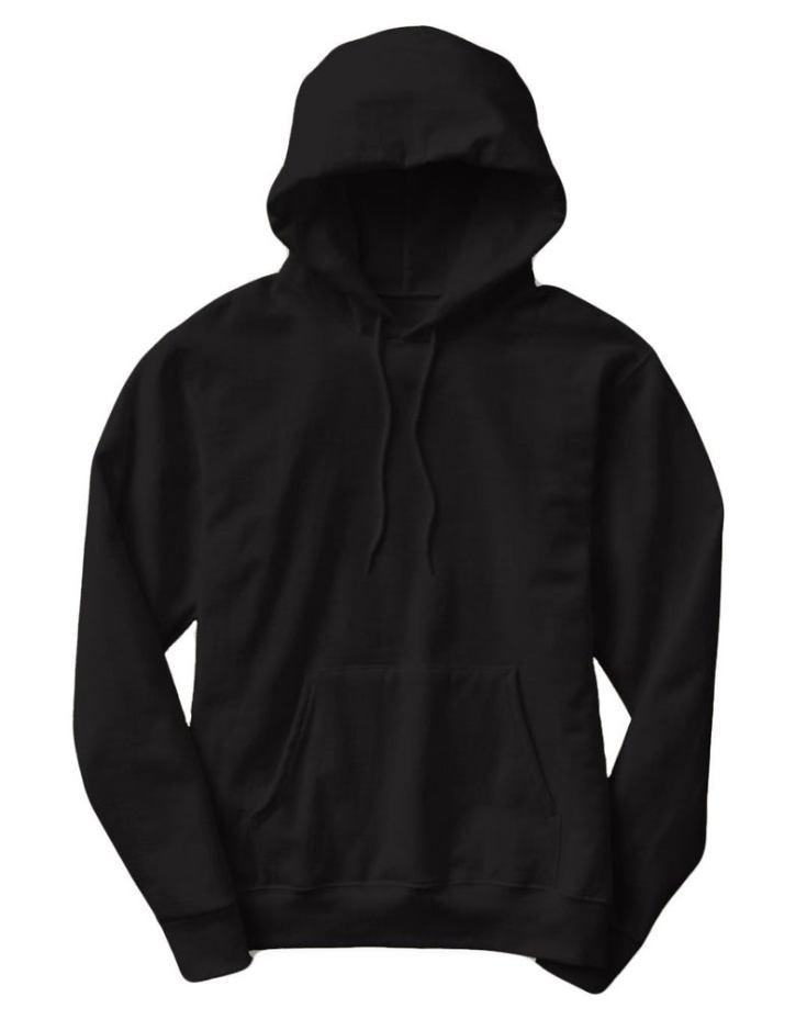 classic black hoodie