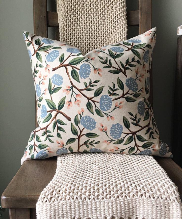 farmhouse linen pillow