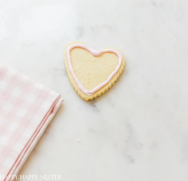 decorating valentines sugar cookie cut outs