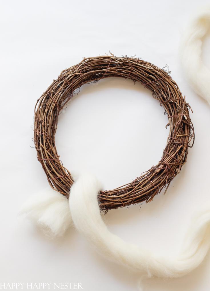 easy wreath tutorial