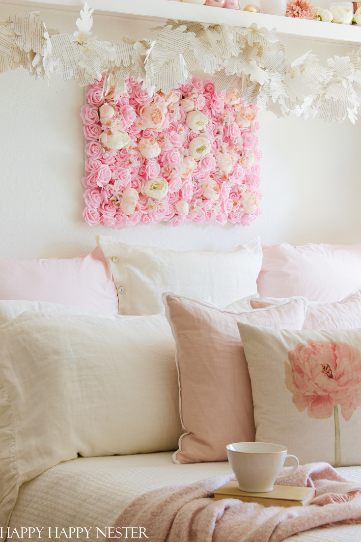 Diy Flower Wall Hanging For The Bedroom Happy Happy Nester